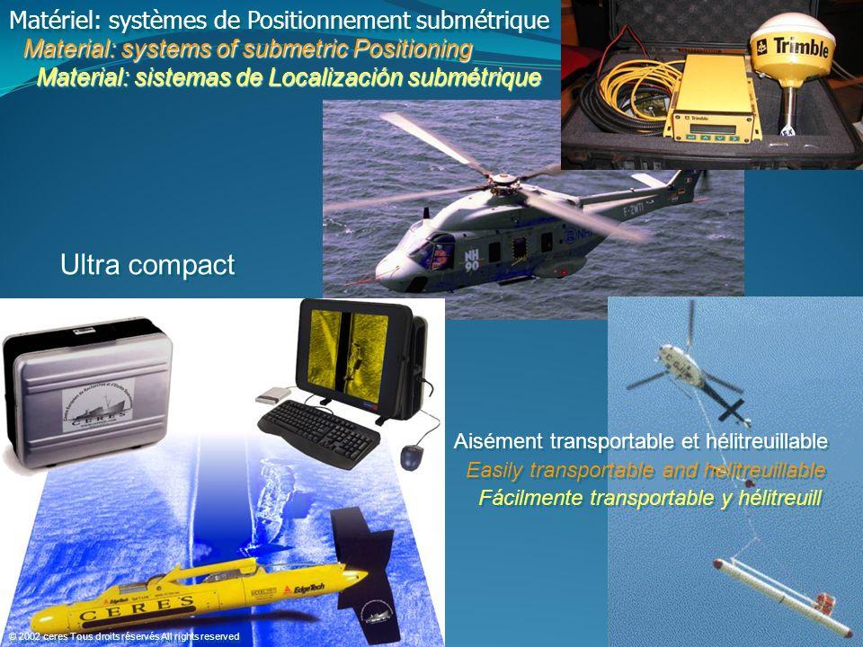 Ultra compact Matériel: systèmes de Positionnement submétrique