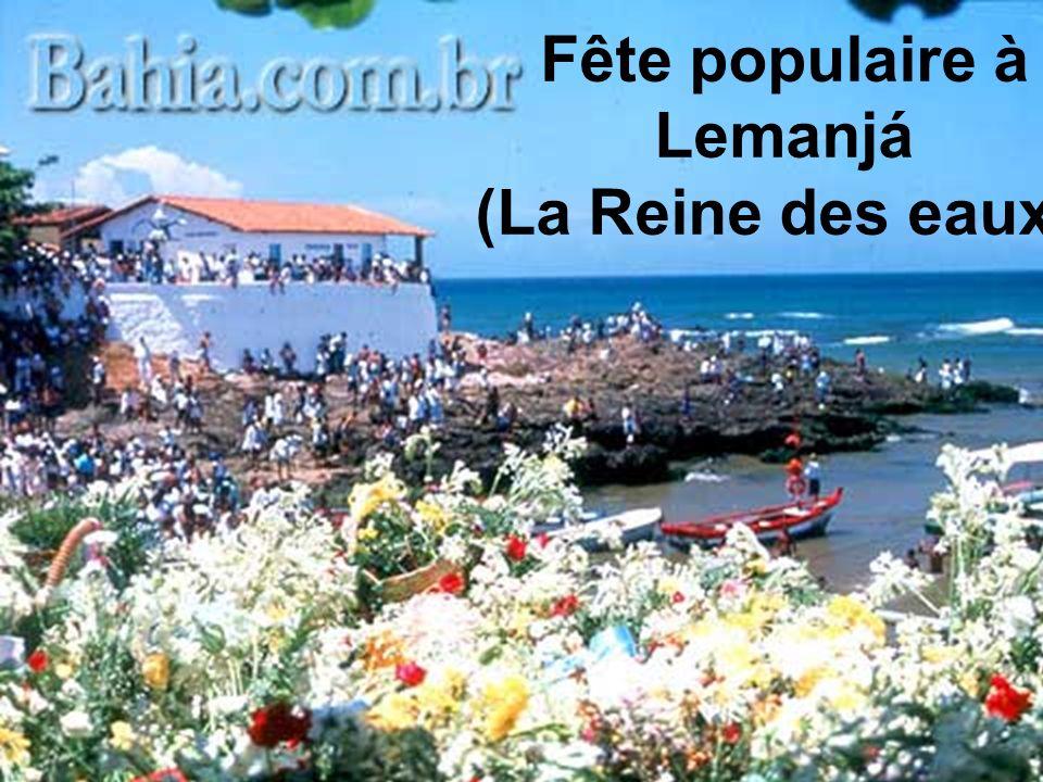 Fête populaire à Lemanjá (La Reine des eaux).