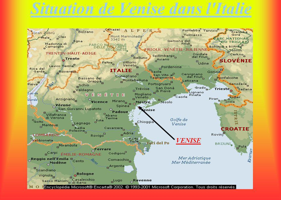 Situation de Venise dans l Italie