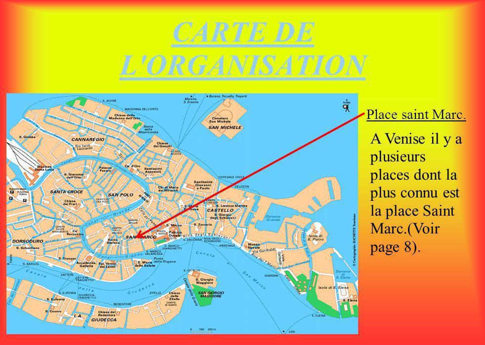 CARTE DE L ORGANISATION