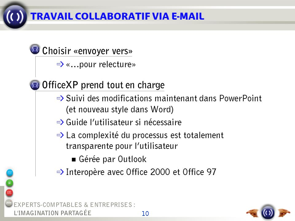 RELECTURE - 1 Organisez la relecture de vos documents avec Office XP