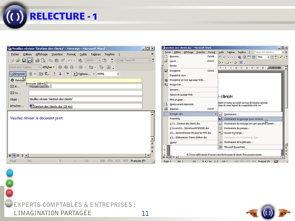 RELECTURE - 2 Organisez la relecture de vos documents avec Office XP