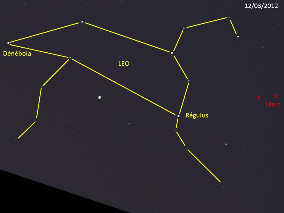12/03/2012 Dénébola LEO Mars Régulus