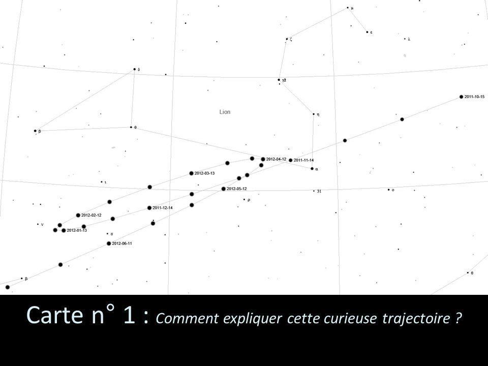 Carte n° 1 : Comment expliquer cette curieuse trajectoire