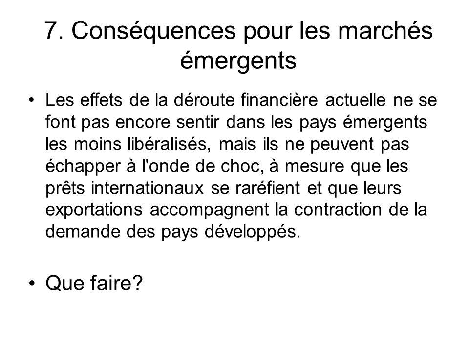 7. Conséquences pour les marchés émergents