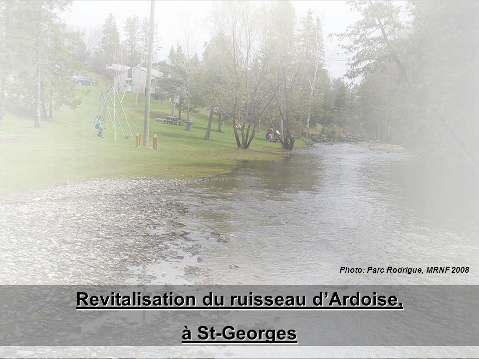 Photo: Parc Rodrigue, MRNF 2008 Revitalisation du ruisseau d'Ardoise,