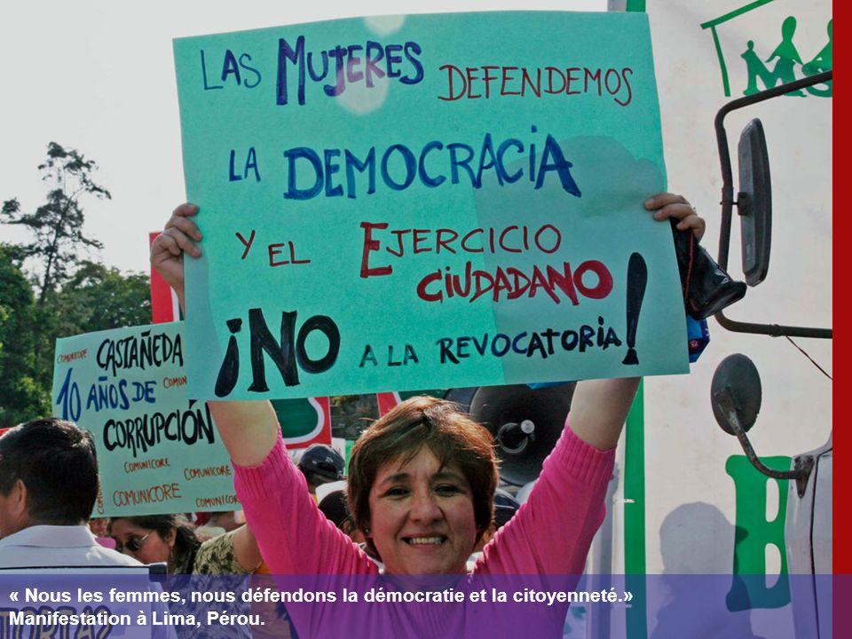 « Nous les femmes, nous défendons la démocratie et la citoyenneté