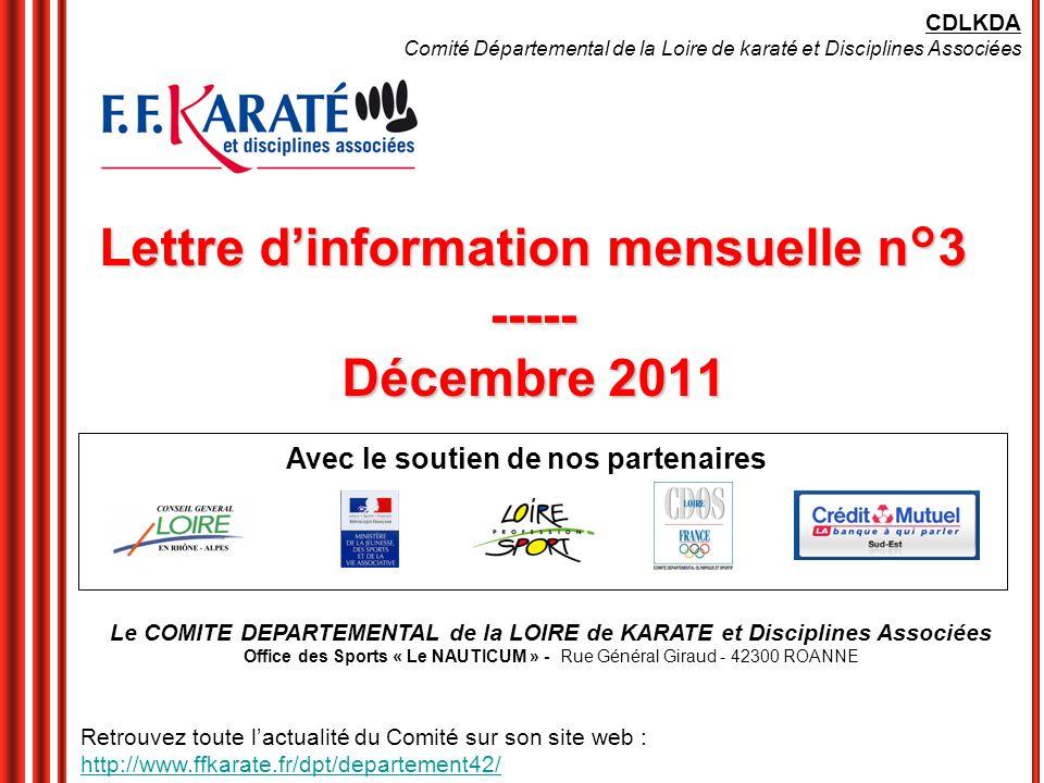 Lettre d'information mensuelle n°3 ----- Décembre 2011
