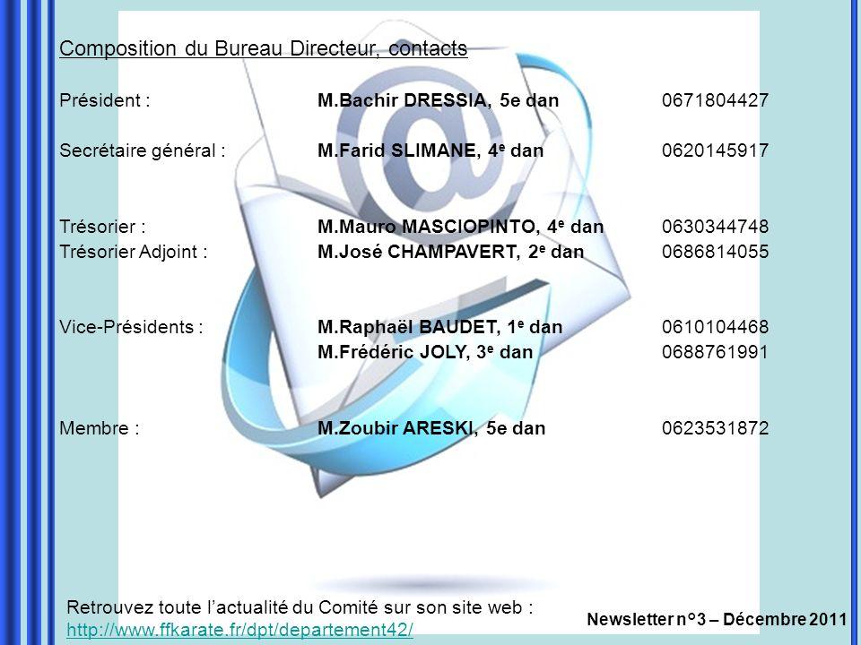 Newsletter n°3 – Décembre 2011