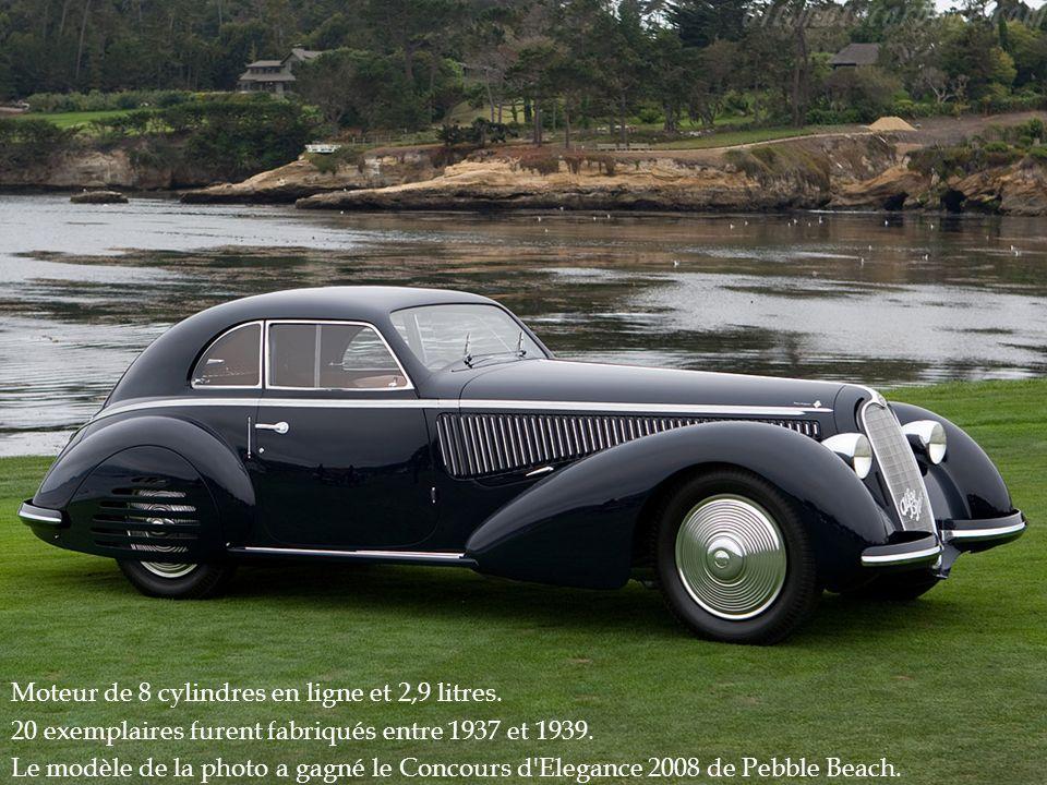 Moteur de 8 cylindres en ligne et 2,9 litres.