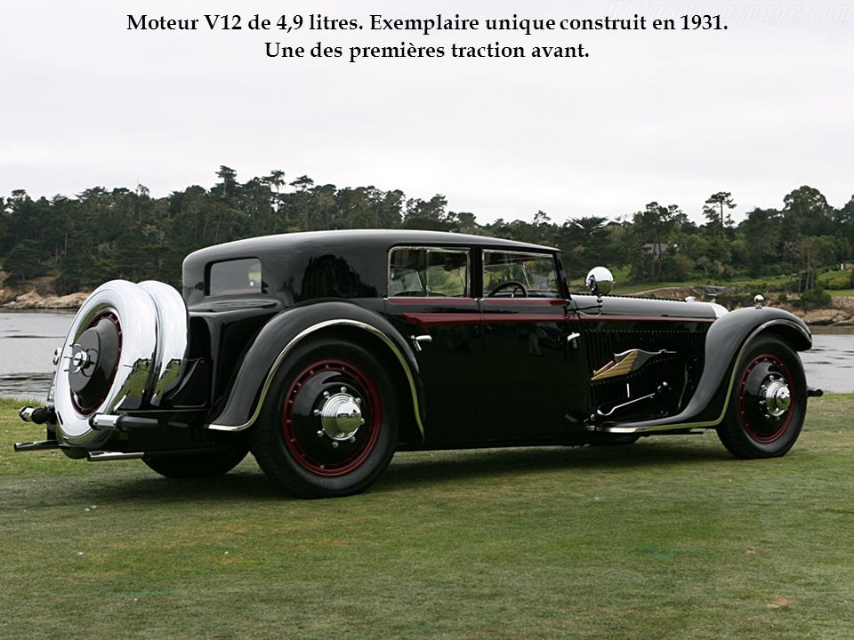 Moteur V12 de 4,9 litres. Exemplaire unique construit en 1931.