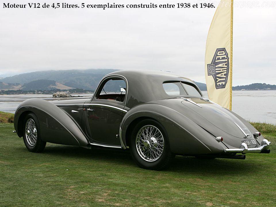 Moteur V12 de 4,5 litres. 5 exemplaires construits entre 1938 et 1946.