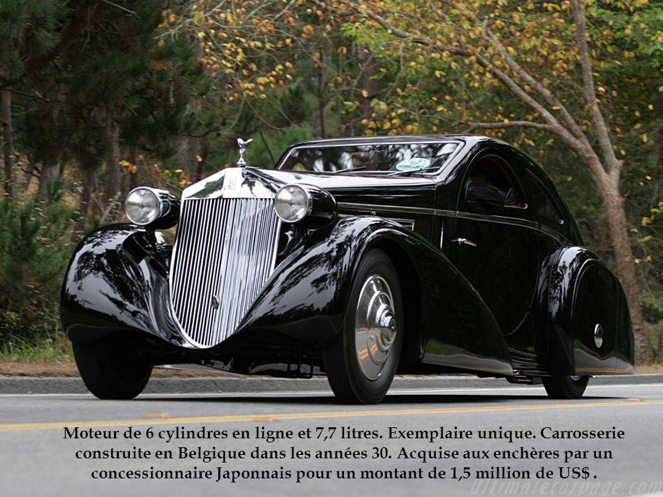 Moteur de 6 cylindres en ligne et 7,7 litres. Exemplaire unique