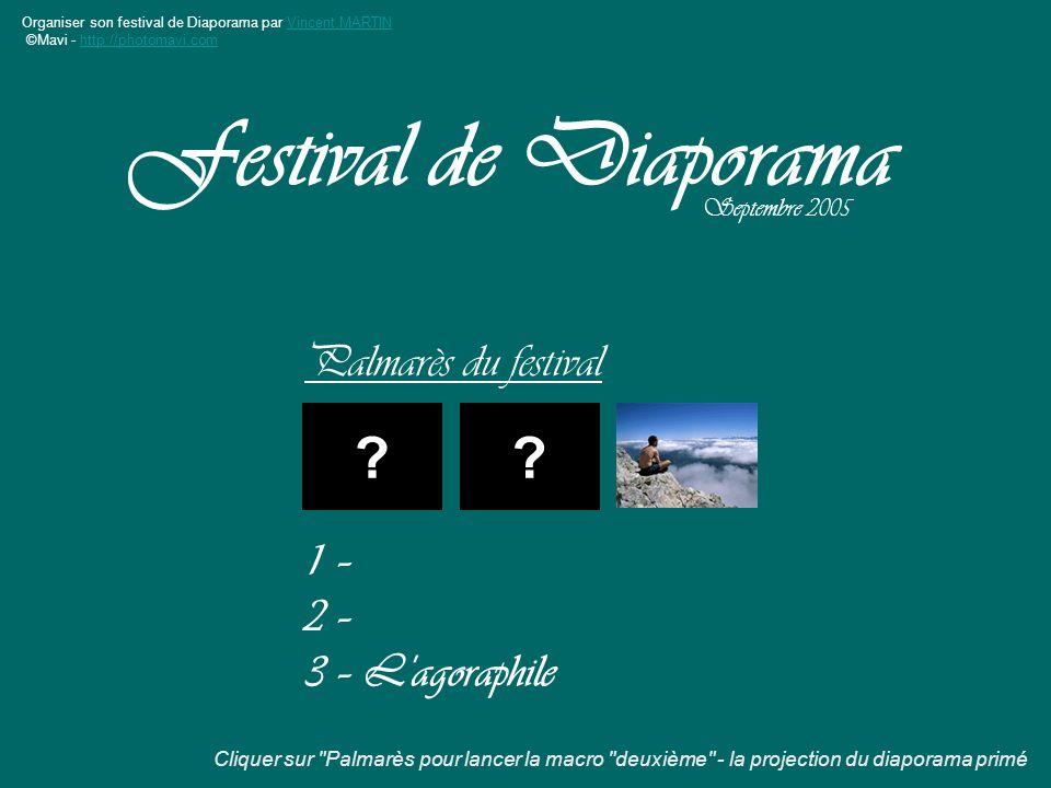 Festival de Diaporama Palmarès du festival 1 – 2 –
