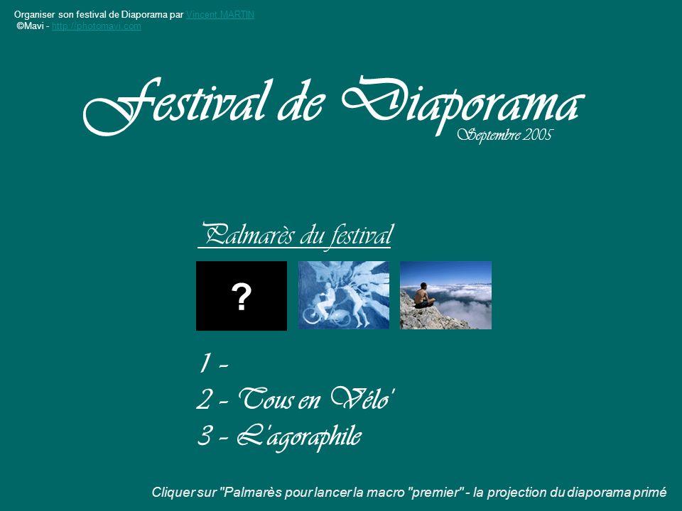 Festival de Diaporama Palmarès du festival 1 – 2 – Tous en Vélo