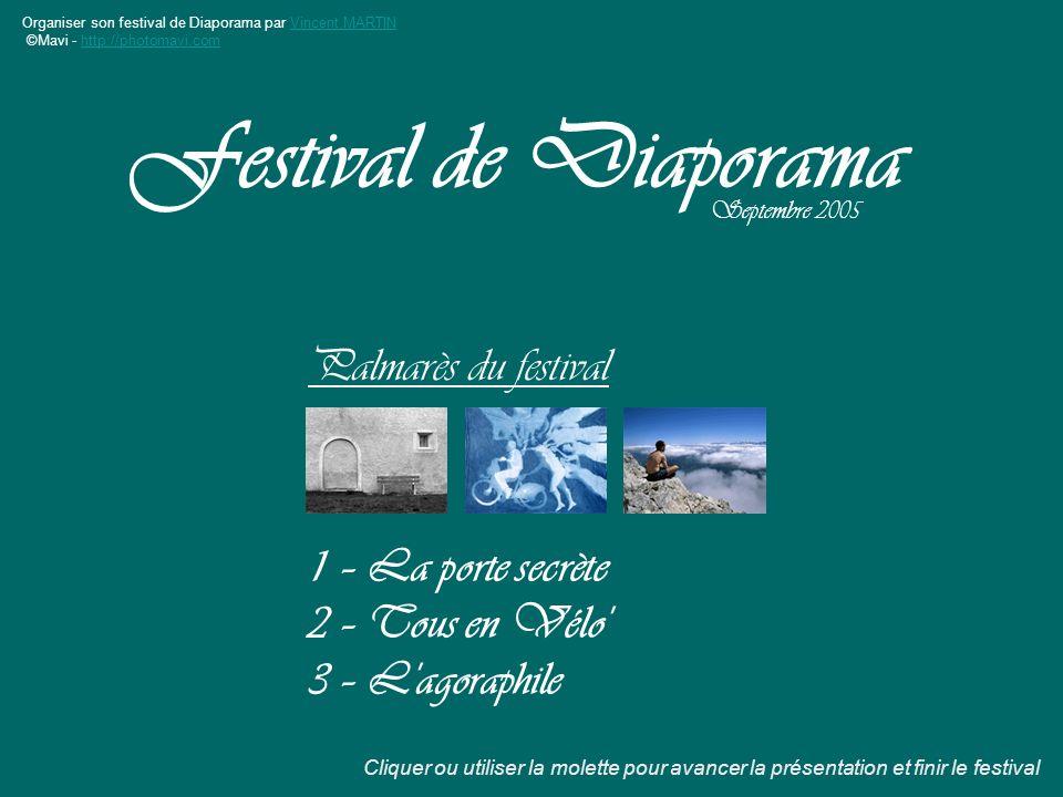 Festival de Diaporama Palmarès du festival 1 – La porte secrète