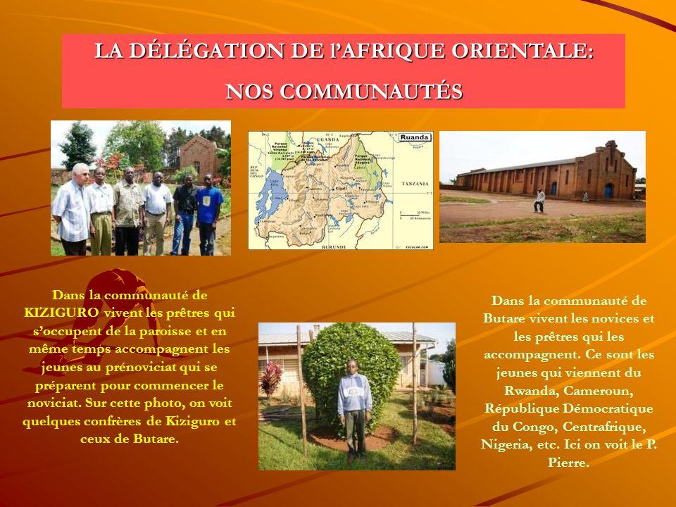 LA DÉLÉGATION DE l'AFRIQUE ORIENTALE: