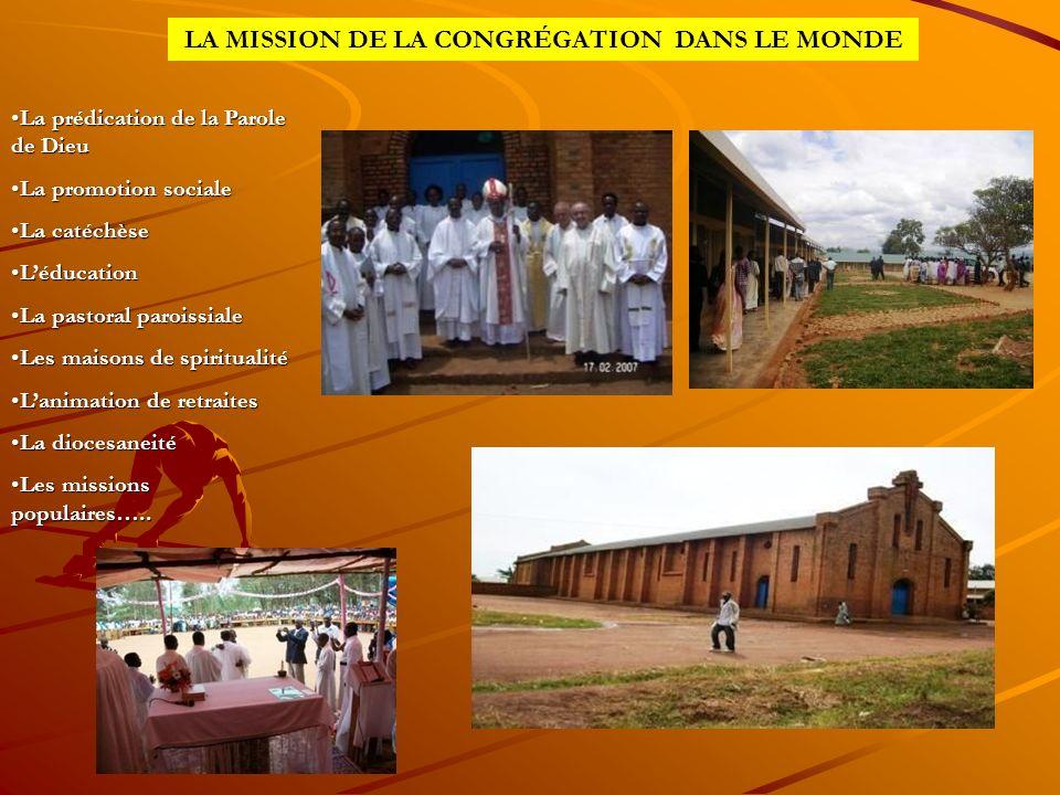 LA MISSION DE LA CONGRÉGATION DANS LE MONDE