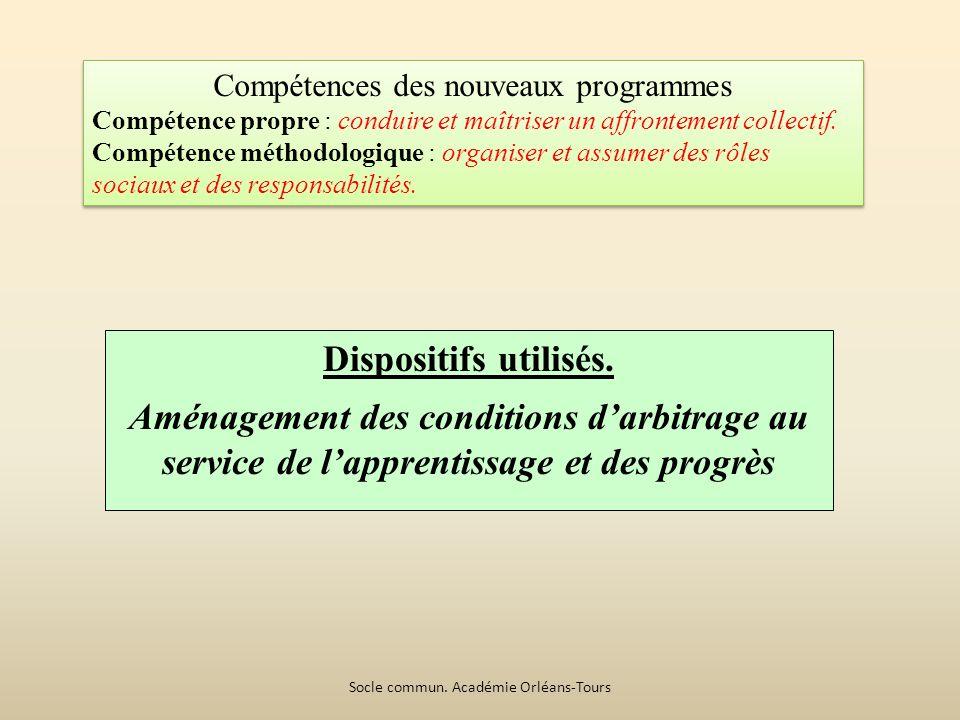 Compétences des nouveaux programmes