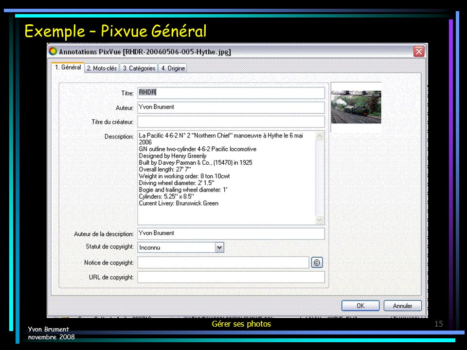 Exemple – Pixvue Général