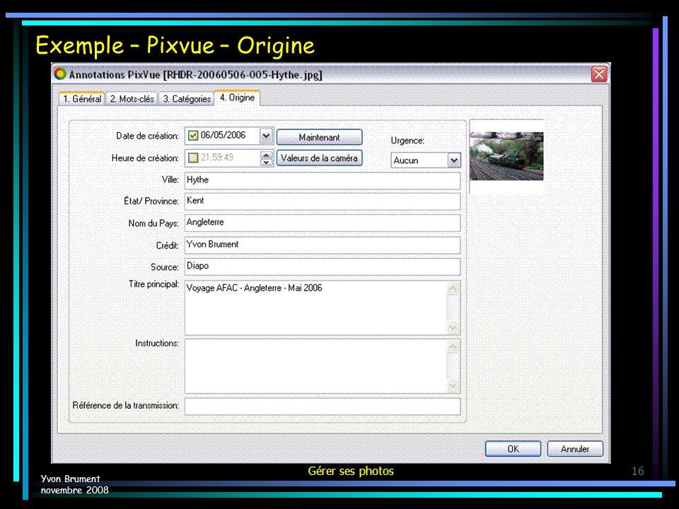 Exemple – Pixvue – Origine