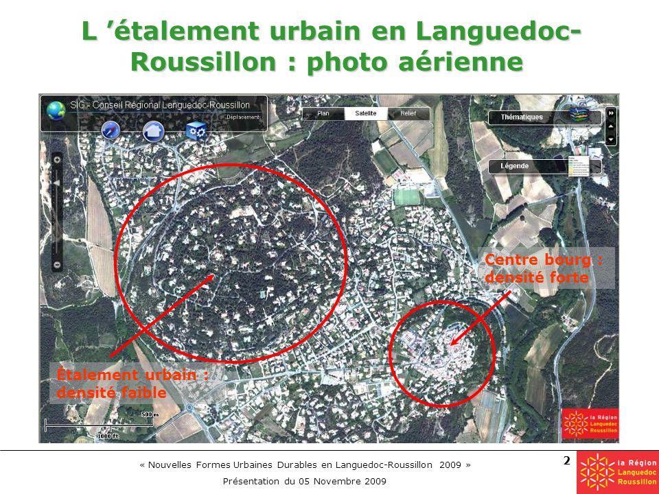 L 'étalement urbain en Languedoc-Roussillon : photo aérienne