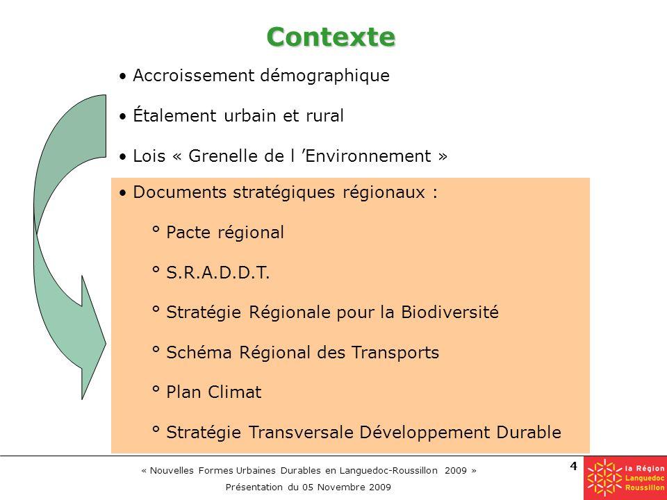 Contexte Accroissement démographique Étalement urbain et rural