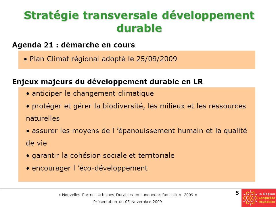 Stratégie transversale développement durable