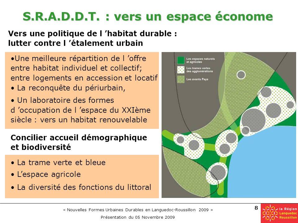 S.R.A.D.D.T. : vers un espace économe