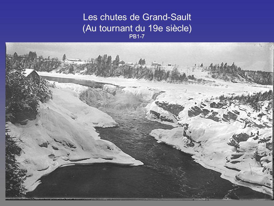 Les chutes de Grand-Sault (Au tournant du 19e siècle) PB1-7