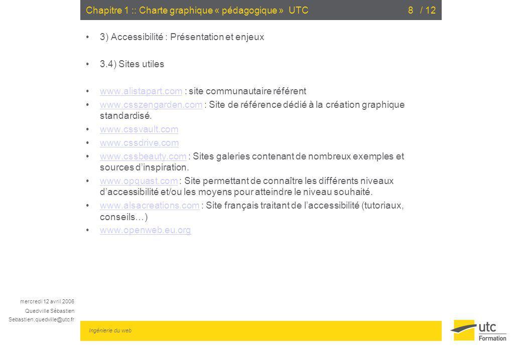 Chapitre 1 :: Charte graphique « pédagogique » UTC