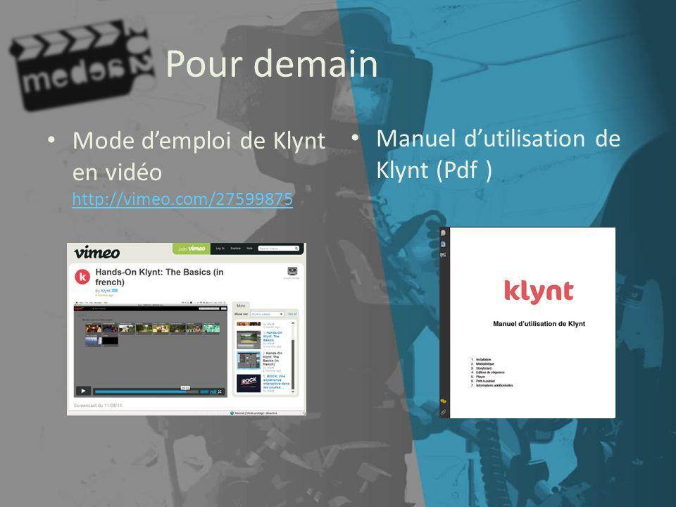 Pour demain Mode d'emploi de Klynt en vidéo http://vimeo.com/27599875