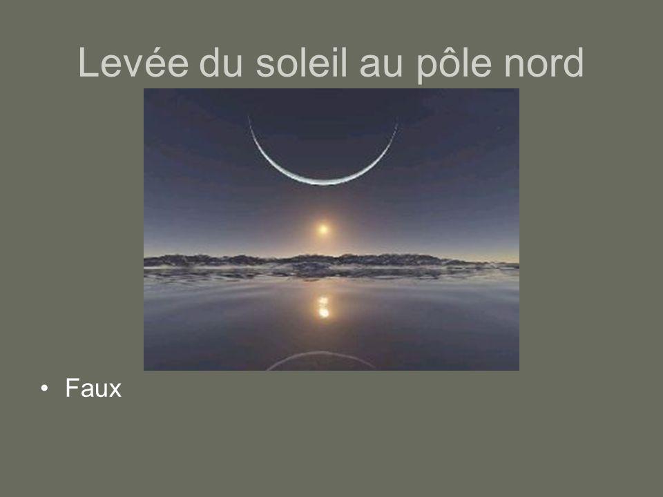Levée du soleil au pôle nord