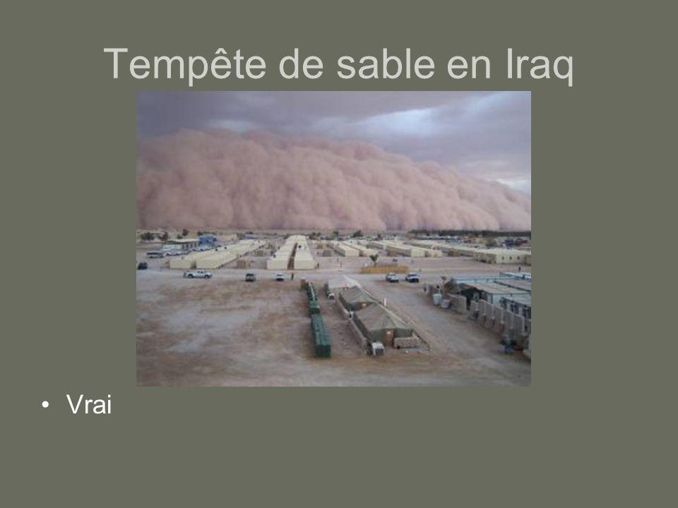 Tempête de sable en Iraq