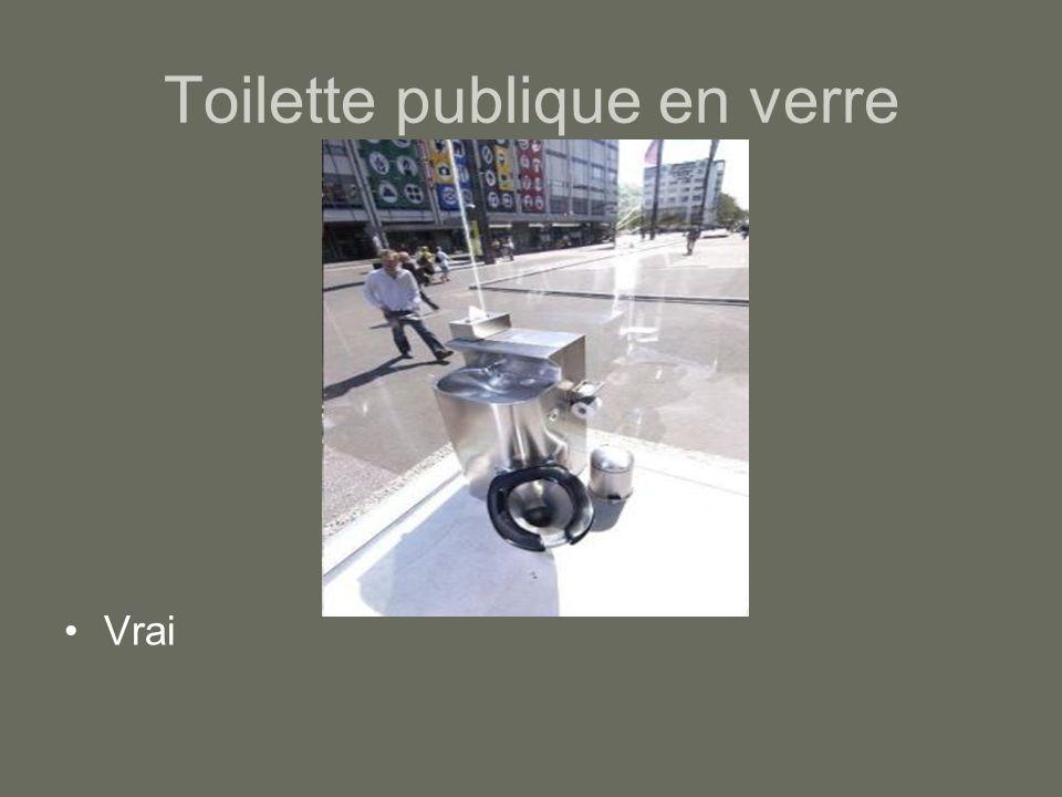 Toilette publique en verre