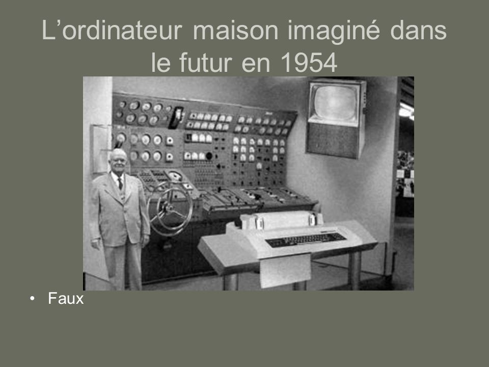L'ordinateur maison imaginé dans le futur en 1954