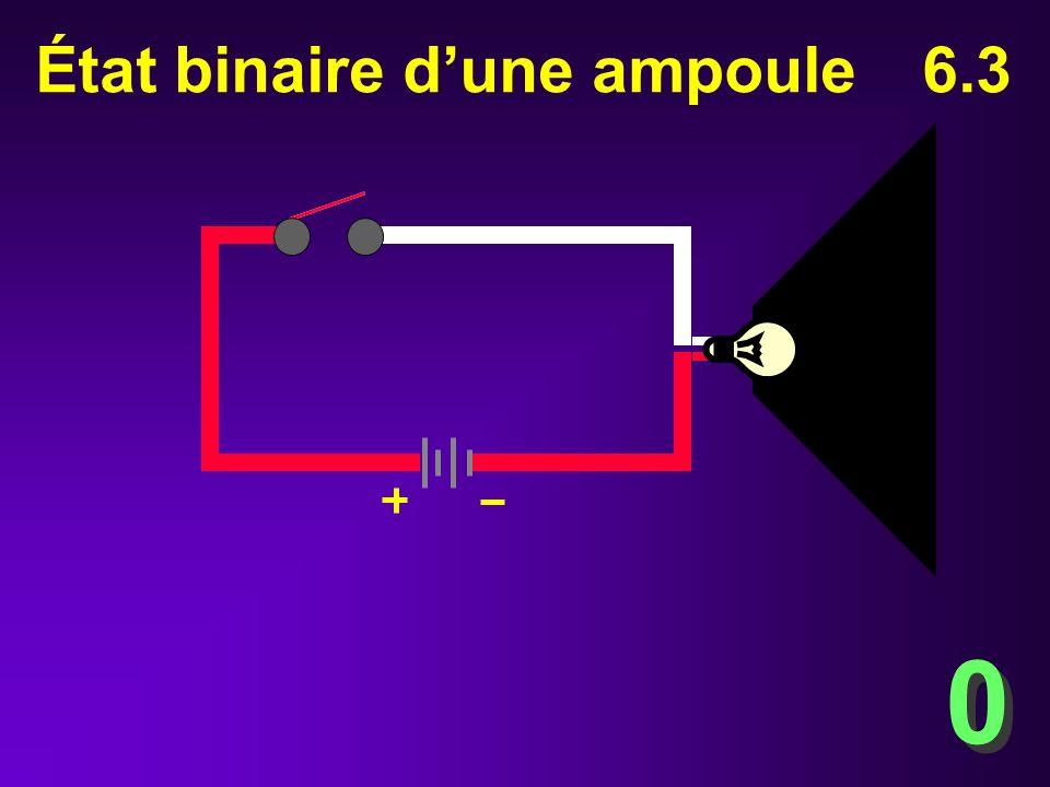 État binaire d'une ampoule 6.3