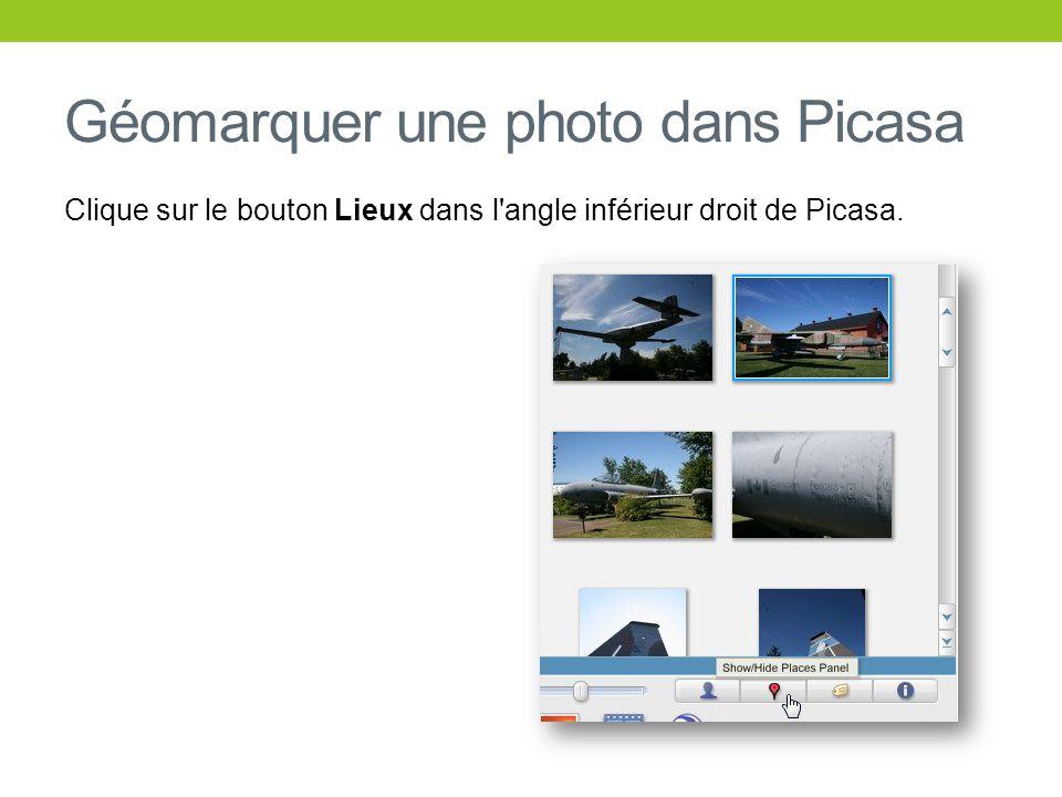 Géomarquer une photo dans Picasa
