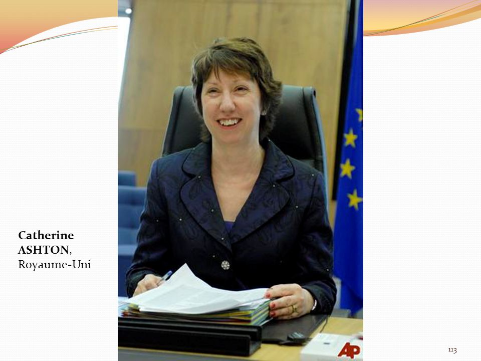 Catherine ASHTON, Royaume-Uni