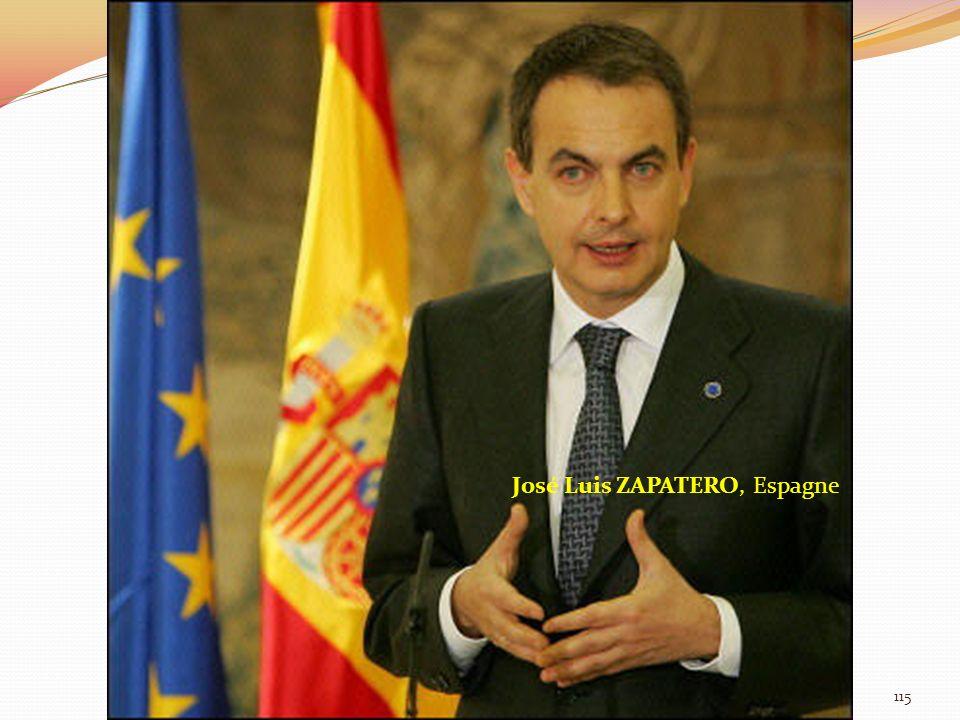 José Luis ZAPATERO, Espagne