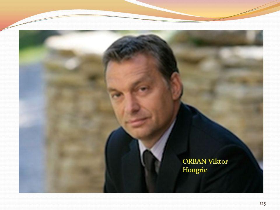 ORBAN Viktor Hongrie