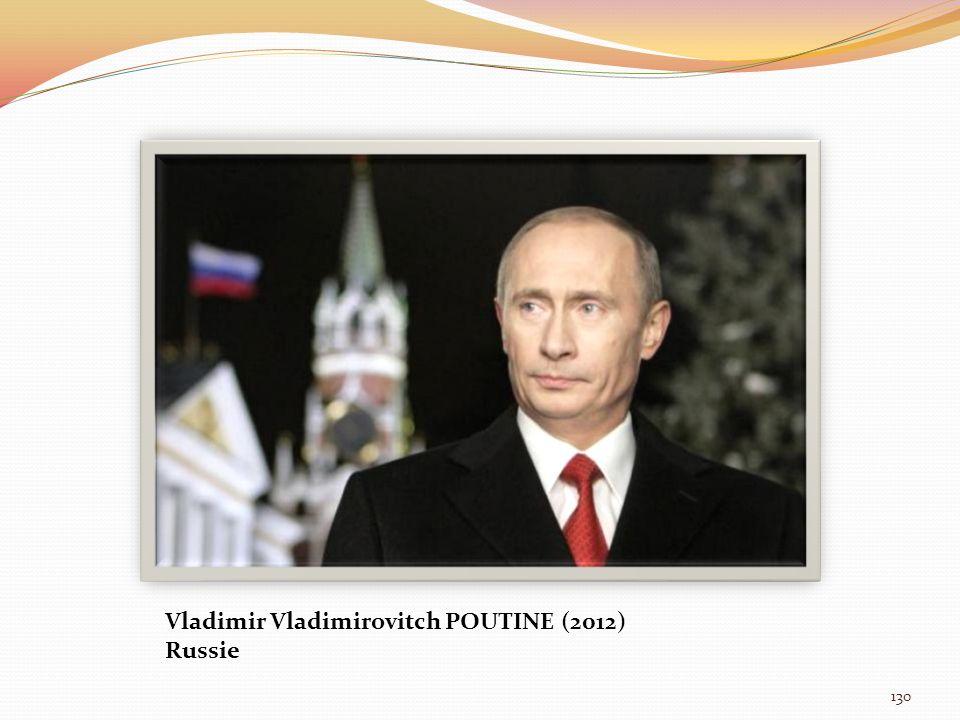 Vladimir Vladimirovitch POUTINE (2012)