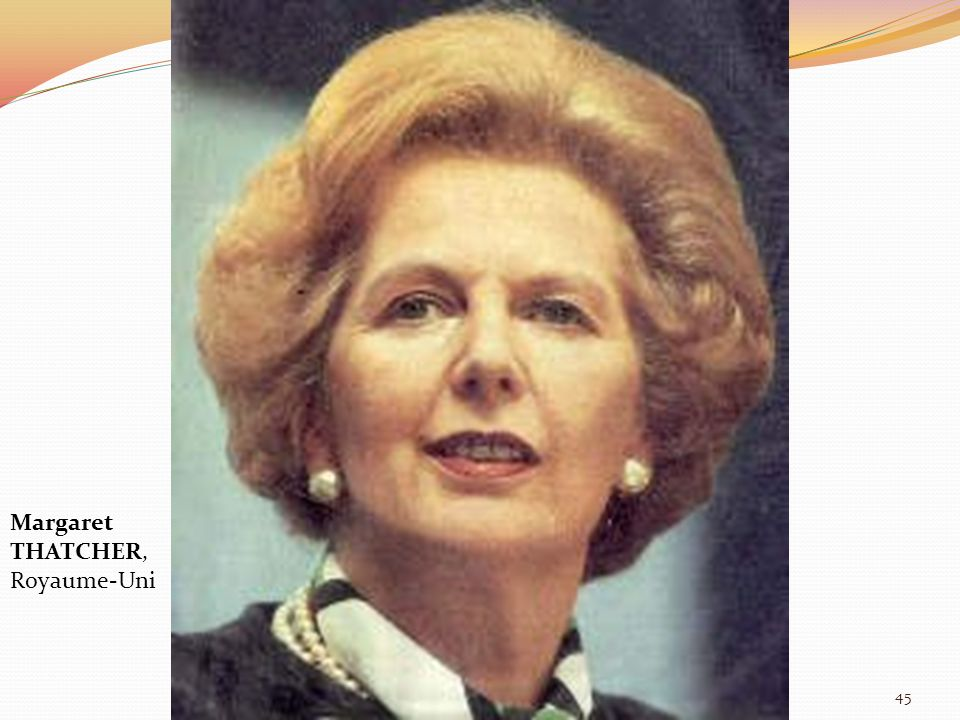 Margaret THATCHER, Royaume-Uni