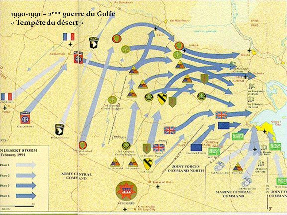 1990-1991 – 2ème guerre du Golfe « Tempête du désert »