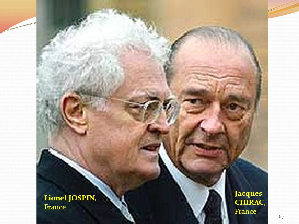 Jacques CHIRAC, France Lionel JOSPIN, France