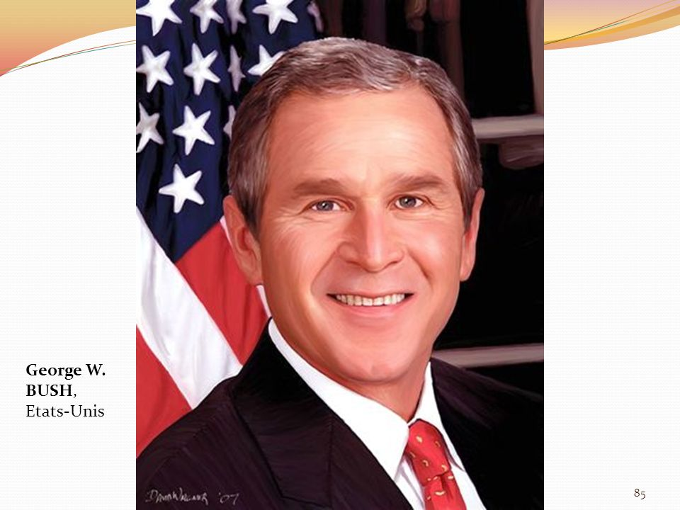 George W. BUSH, Etats-Unis