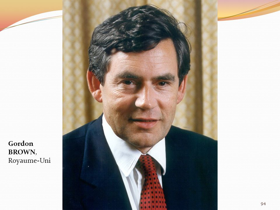 Gordon BROWN, Royaume-Uni