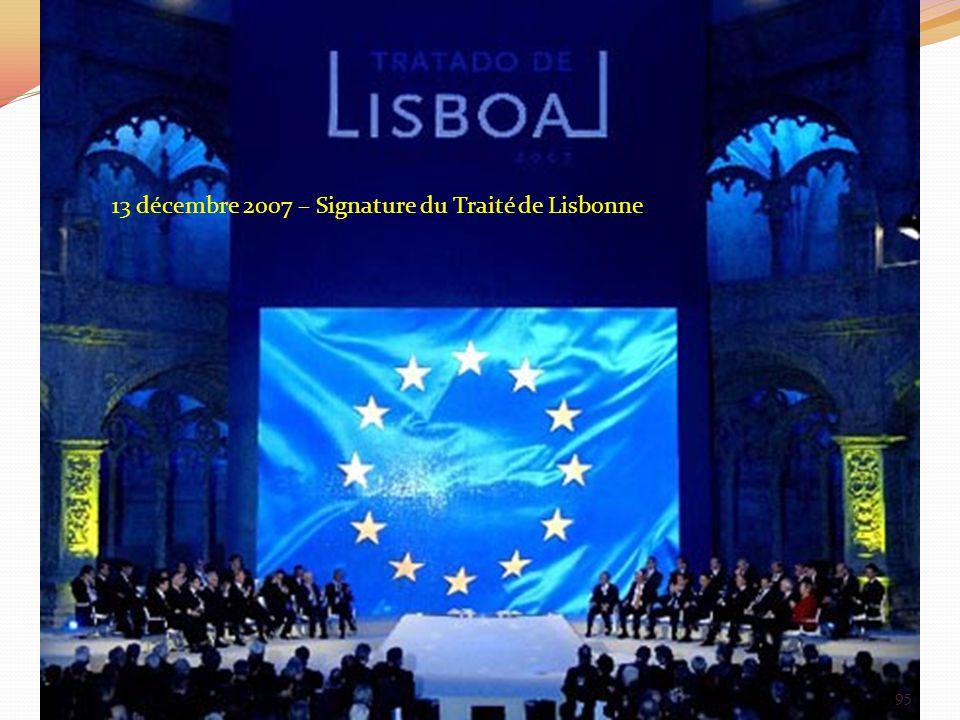 13 décembre 2007 – Signature du Traité de Lisbonne