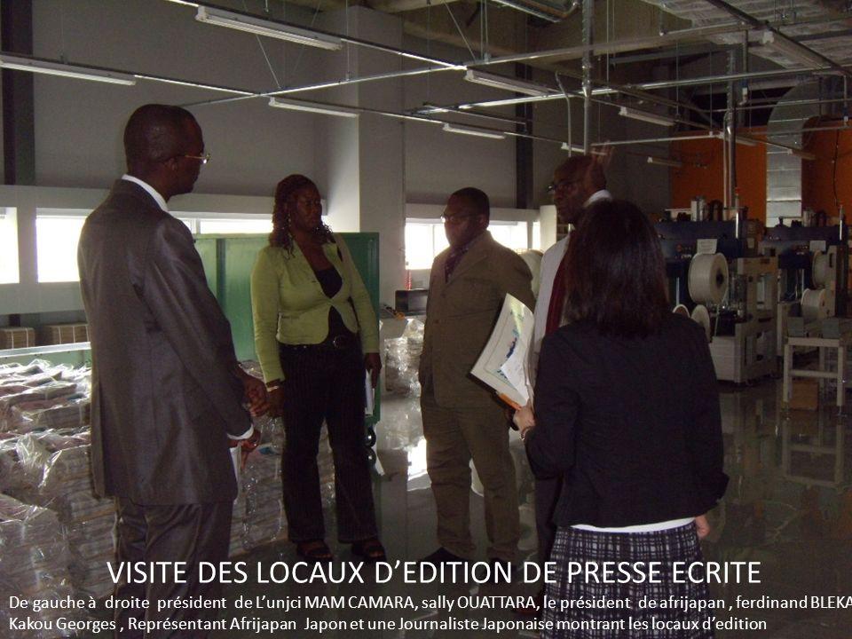 VISITE DES LOCAUX D'EDITION DE PRESSE ECRITE