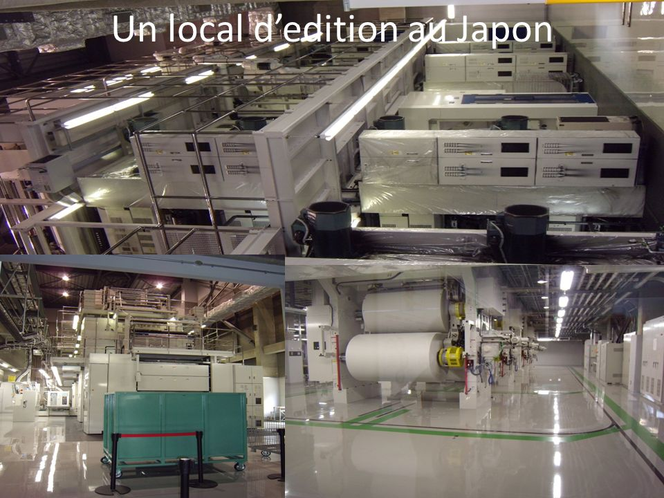 Un local d'edition au Japon